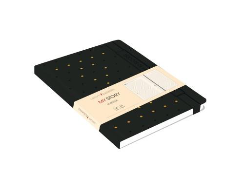 Ежедневник (недатированный) А5 104 листа искусственная кожа MY STORY Черный